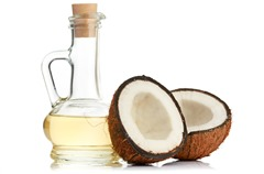 coconut and oil; Shutterstock ID 129431348; PO: aol; Job: production; Client: drone