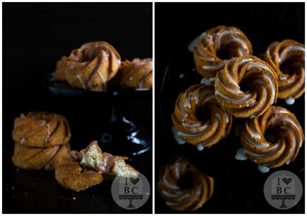 Mini Bundt Cakes de limón con semillas de amapola