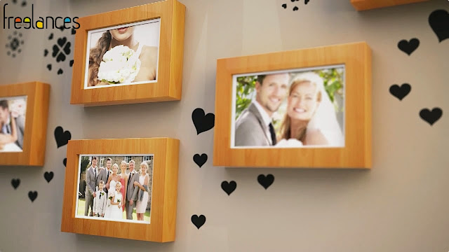 diaporama vidéo mariage modèle cadres photos photo focalisation 06