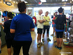 Early runners at the store. The lady in the black top over the blue top ran the 2013 Boston Marathon.