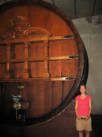 Weinert Winery - largest barrel in Mendoza!