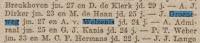 Groeneweg, Jacob en Welzenis, Aafje van Bericht van huwelijksaangifte 10-11-1920 - Voorwaarts 11-11-1920.jpg