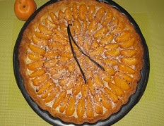 Tarte aux abricots et aux dragées