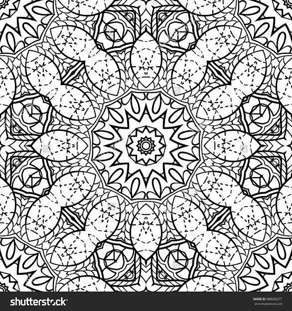 Adult Coloring Page Semless Zendoodle Vector For Art Coloring Book  Zendoodle Square