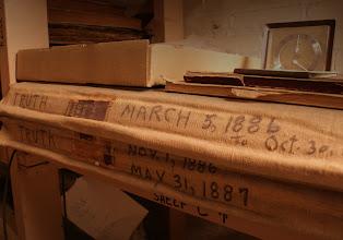 Photo: TRUTH 1986 to 1987  Lackawanna Historical Society Vaults (photos © Chris Balton)