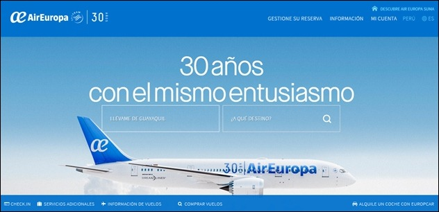 Abrir mi cuenta AirEuropa