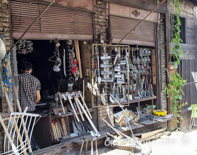 Safranbolu çarşısındaki demirci dükkanı