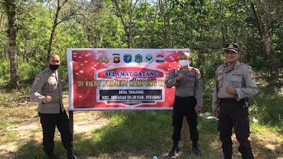 Wakapolres Sekadau Tinjau Lokasi Pencanangan Kampung Tangguh di Desa Tanjung