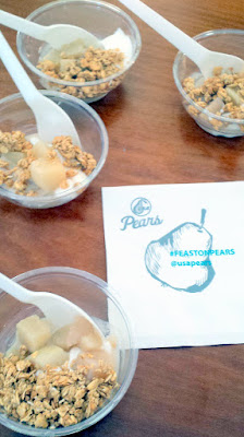 At Feast Brunch Village 2015, USA Pears, one of the participating sponsors, really brought their A game with their Creamy Coconut and Star Anise Poached Pears and a Pear Shrub with Sparkling Prosecco or Soda Water