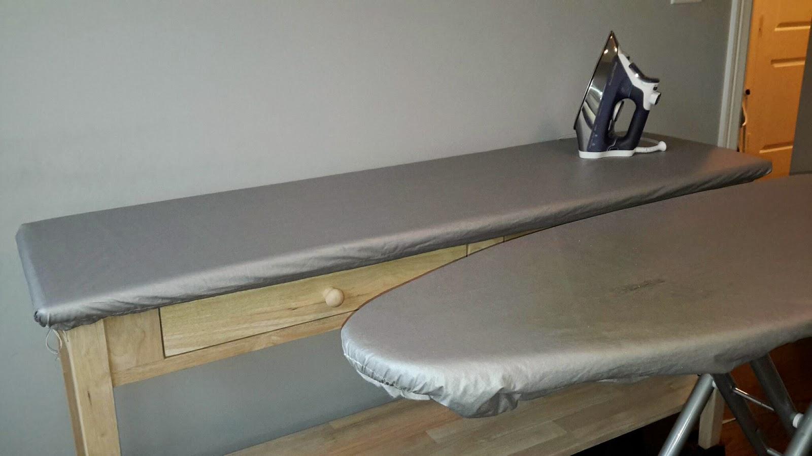 third floor quilts: big ironing board DIY