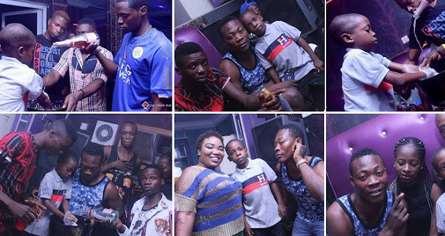 Nigerian Lady Celebrates Her Little Son's Birthday Party At A Nightclub In Ibadan (Photos)