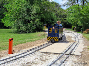 Photo: The other newly installed raised remote switch stand at Sumrall with George Leventon.     HALS Public Run Day 2014-0419 RPW  11:48 AM