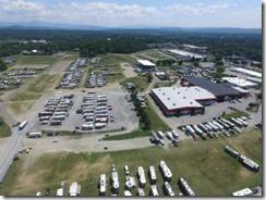 Drone view of Escapade Rally