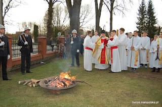 Liturgia Wielkiej Soboty w parafii Bucze