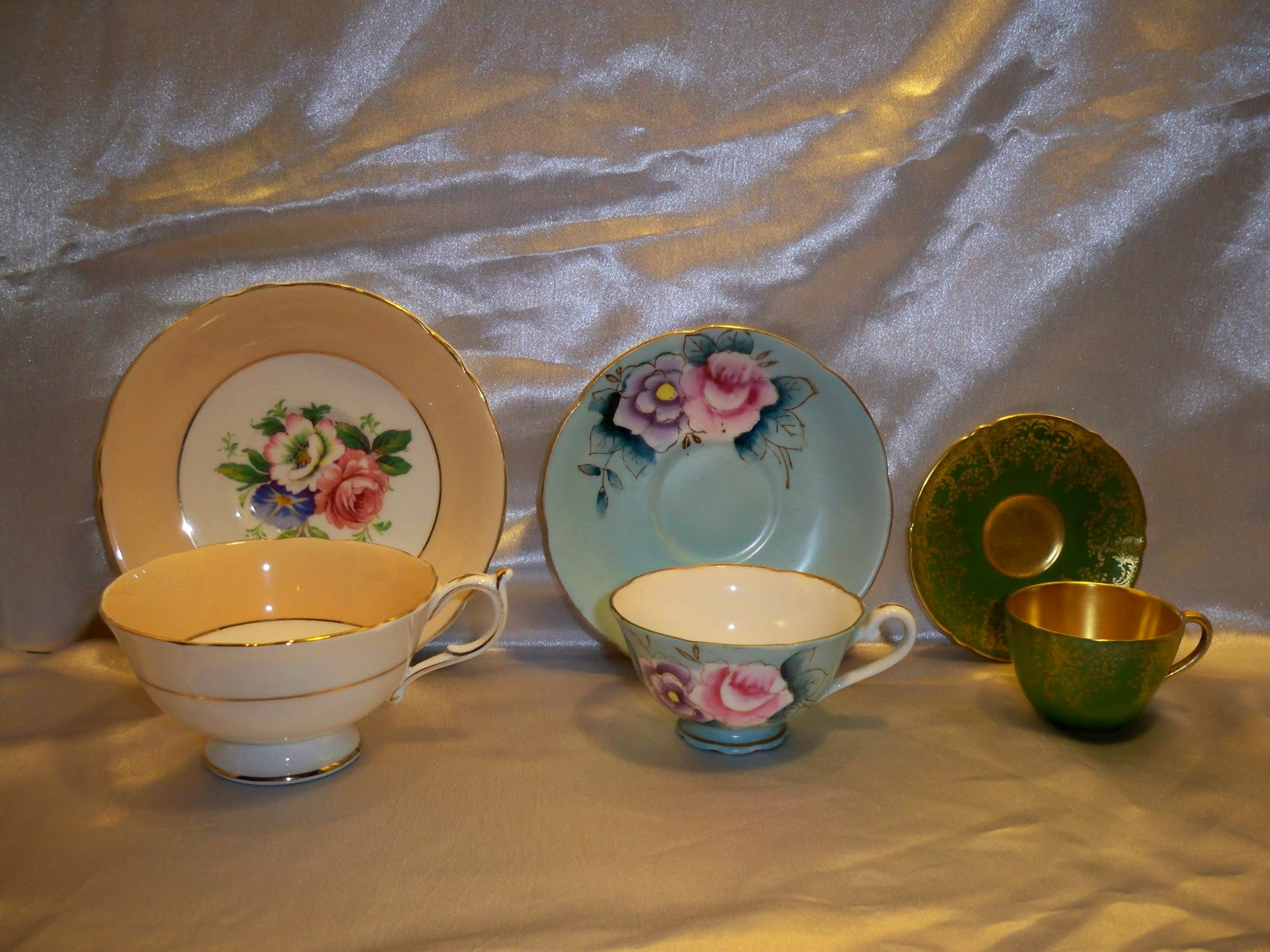 Left Tea Cup Saucer Middle Demite Right Mini Also Known As Doll Size Not Shown Coffee