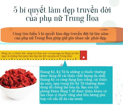5 bi quyet lam dep truyen doi cua phu nu Trung Hoa  1
