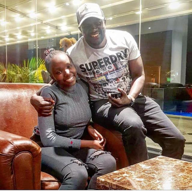 Former Tahidi High actress Nyaboke Moraa photo with Benjamin Anyimba