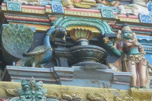 Mayiladuthurai Temple Main Gopuram In Detail 01