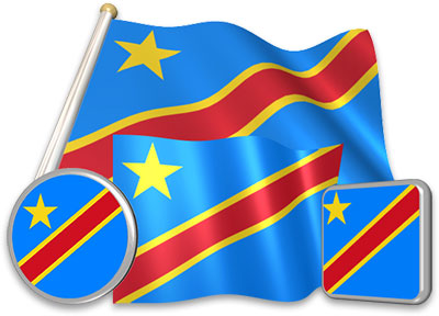 Congolese flag animated gif collection