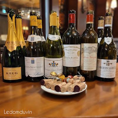 Last night wines Oct 2nd 2021 by ©LeDomduVin 2021