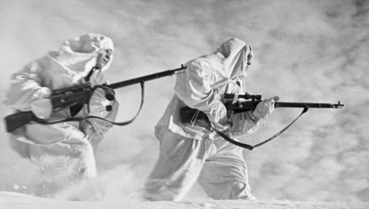 Снайперы  в снегах