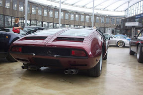 Rear end of the 1970 DeTomaso Mangusta