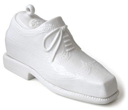Mantegueira de porcelana em forma de sapato