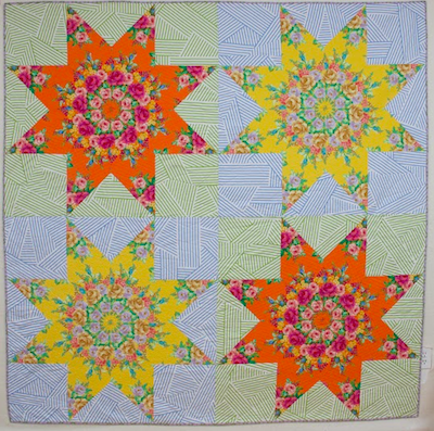 Enthusiastic Colorful Vintage Broken Star Cutter Quilt Piece 3124 23 In X 25 In