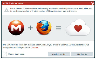 MEGA mas Firefox