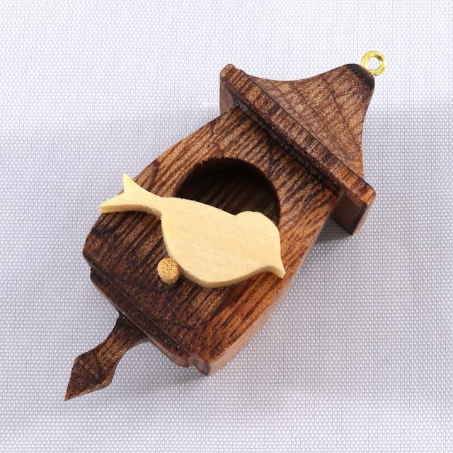 Handmade Wood Birdhouse Christmas Tree Ornament Made From Reclaimed Wood