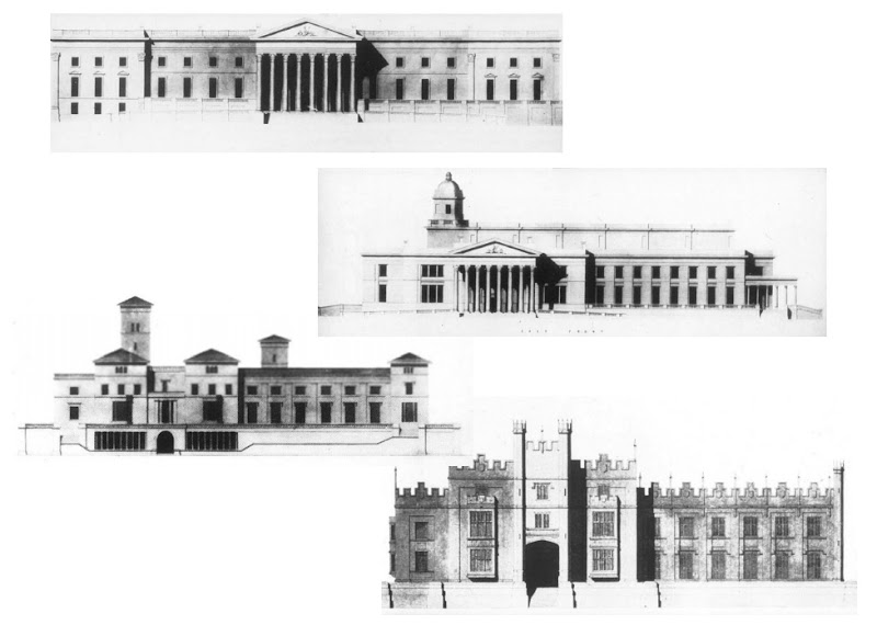 Discarded designs for Government House, Hobart, compiled by Miles Lews