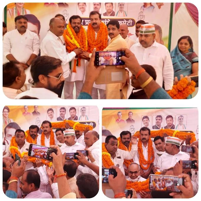 कांग्रेस के प्रदेश महासचिव राघवेंद्र प्रताप सिंह और मिंटू का हुआ स्वागत