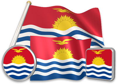 I-Kiribati flag animated gif collection
