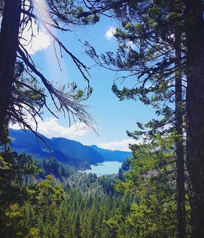daisy lake from brandywine falls hike
