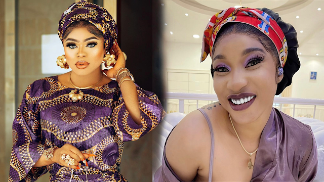 Bobrisky begs Tonto Dikeh for forgiveness after calling her out