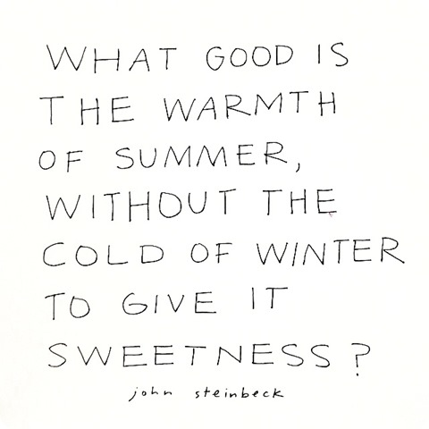 cold of winter -- steinbeck