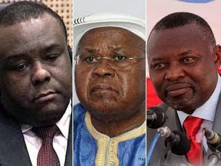 Jean-Pierre Bemba, Etienne Tshisekedi et Vital Kamerhe. Radio Okapi/ Ph. John Bompengo