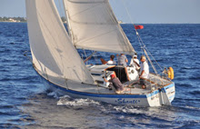 J/30 sailing Cayman Islands race