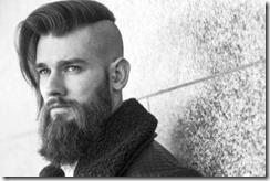 Mens long haircut disconnected part