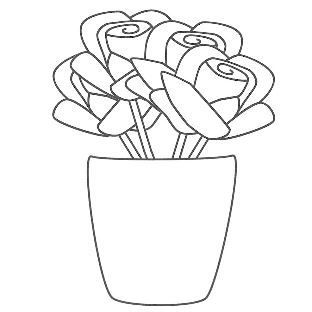 Roses Coloring Pages