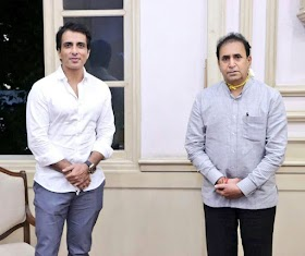 Sonu Sood Provides 25000 Face Shields to Police