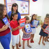 """Culminância do projeto das aulas de Inglês, """"AROUND THE WORLD""""-Ensino Fundamental"""