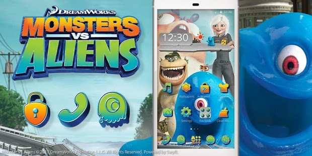 Monsters vs. Aliens Launcher - náhled