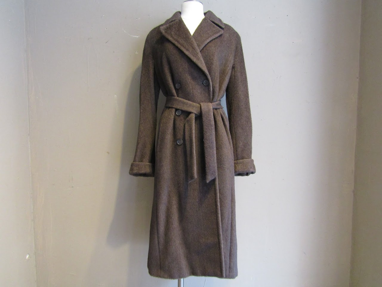 Max Mara Herringbone Wool Coat