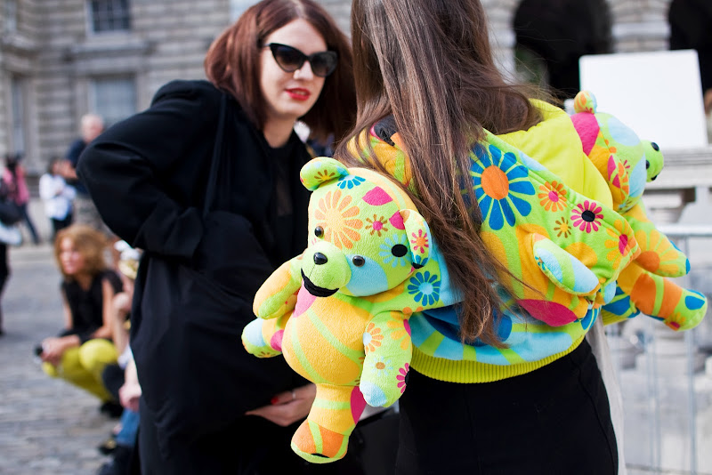 Adidas Originals Bear Hoodie by Jeremy Scott at London Fashion Week