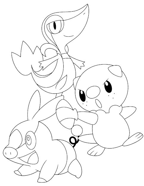 Coloring Pages Pokemon Oshawottsnivyand Tepig  Google Search