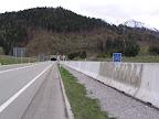 Το τούνελ πριν από την είσοδο στην Αυστρία