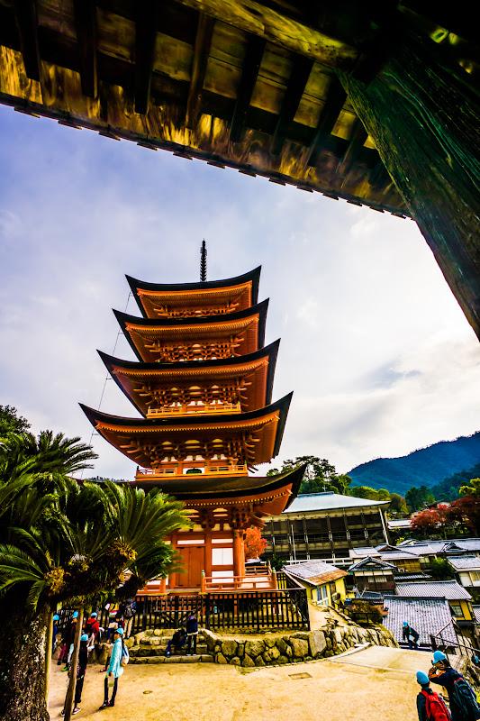 宮島 豊国神社(千畳閣) 五重塔2