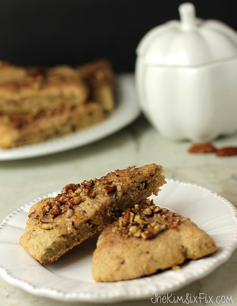 Pecan sweet potato and maple scone