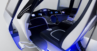Bell Helicopter unveils futuristic flying taxi concept interior